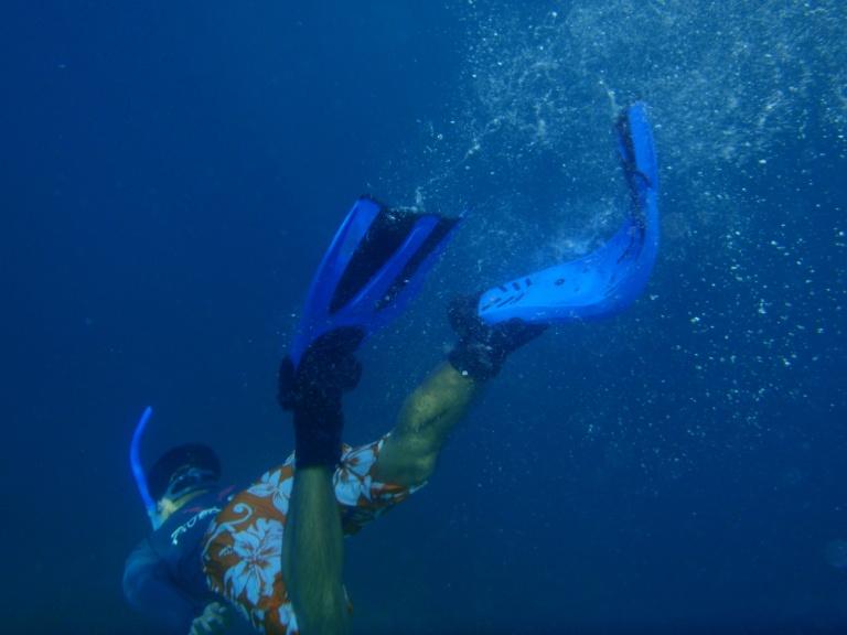 skin diving!