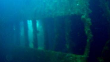 Inside a shipwreck!