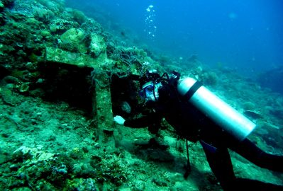One of impressive sights is a cross marker in Sunken Cemetery