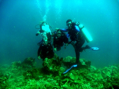 Exploration dive with task force, Linamon waters
