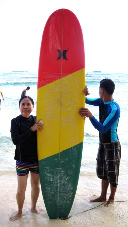 I chose this colorful board - my instructor stick with me!