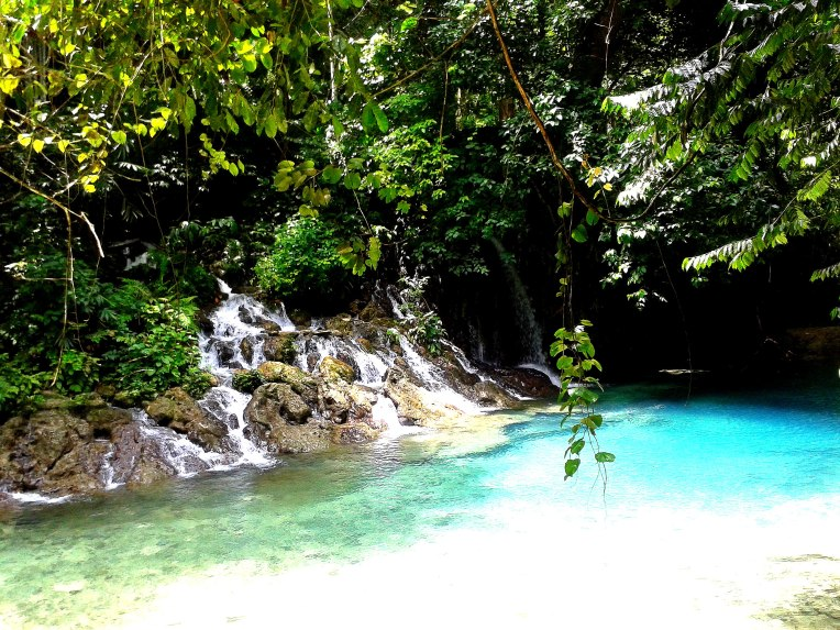 Bukal Springs - the first layer of the falls