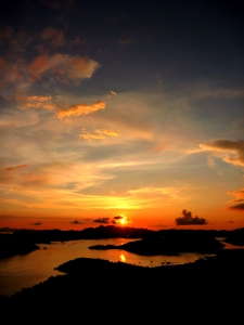 Golden sunset in Coron Bay